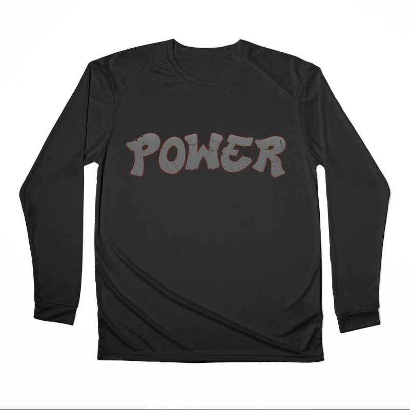 POWER cracks Men's Performance Longsleeve T-Shirt by Power Artist Shop