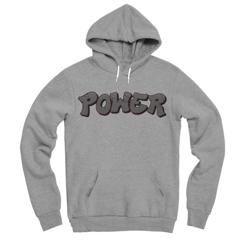 POWER cracks Men's Sponge Fleece Pullover Hoody by Power Artist Shop