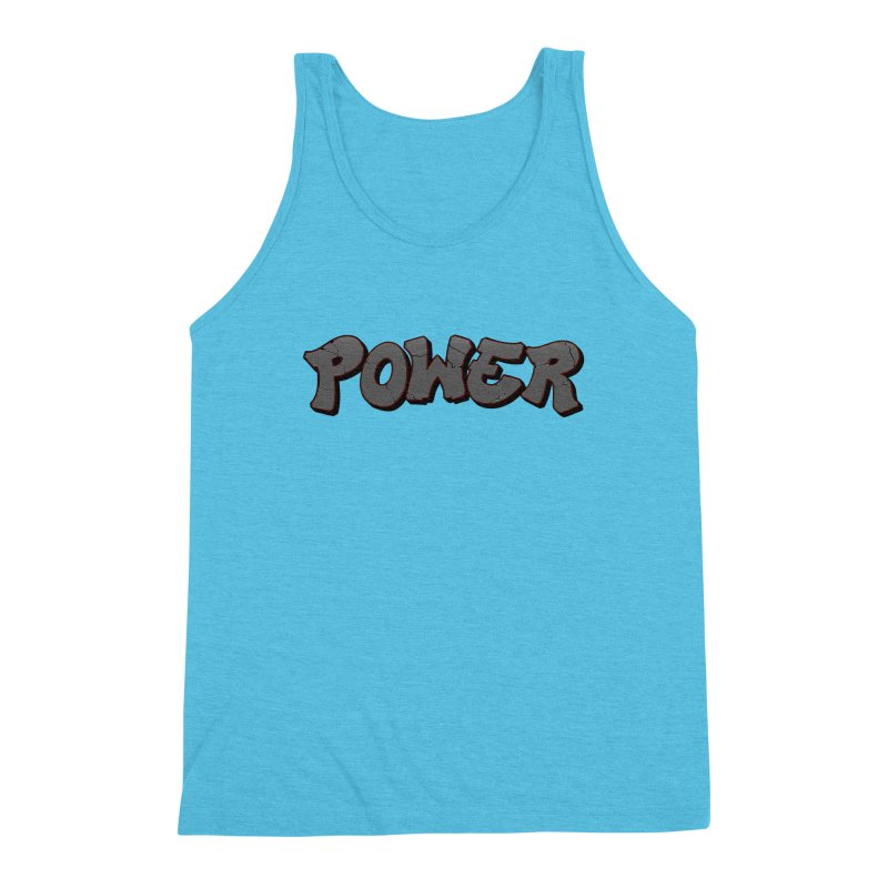 POWER cracks Men's Triblend Tank by Power Artist Shop