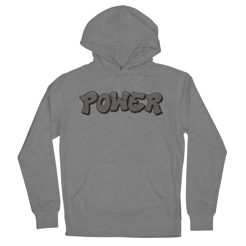 POWER cracks Men's French Terry Pullover Hoody by Power Artist Shop