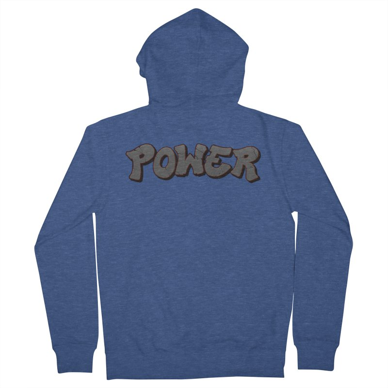 POWER cracks Women's French Terry Zip-Up Hoody by Power Artist Shop