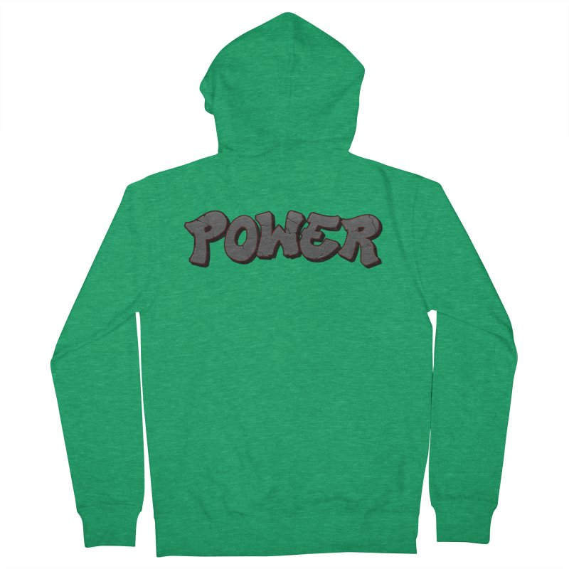 POWER cracks Men's French Terry Zip-Up Hoody by Power Artist Shop
