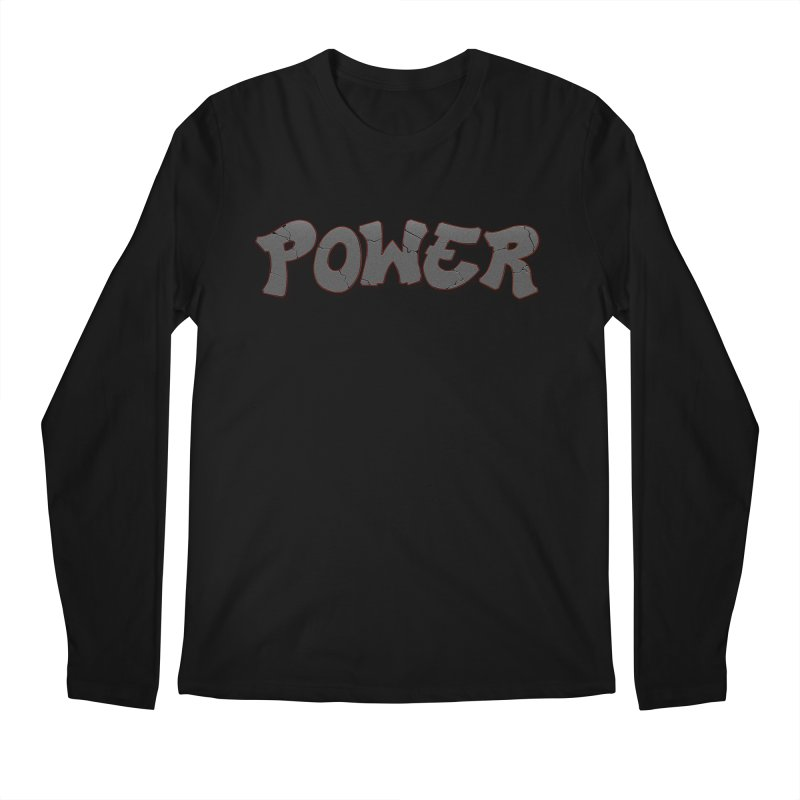 POWER cracks Men's Regular Longsleeve T-Shirt by Power Artist Shop
