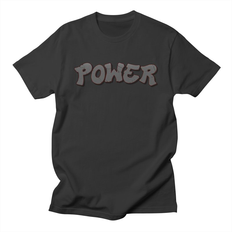 POWER cracks Men's Regular T-Shirt by Power Artist Shop