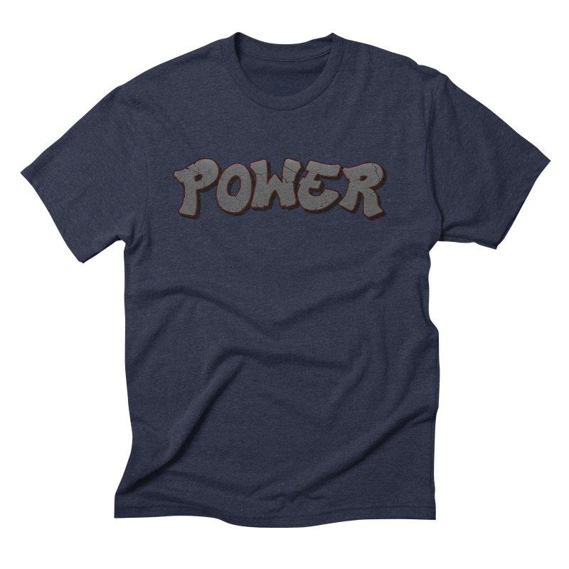 POWER cracks Men's Triblend T-Shirt by Power Artist Shop