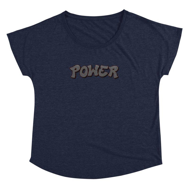 POWER cracks Women's Dolman Scoop Neck by Power Artist Shop