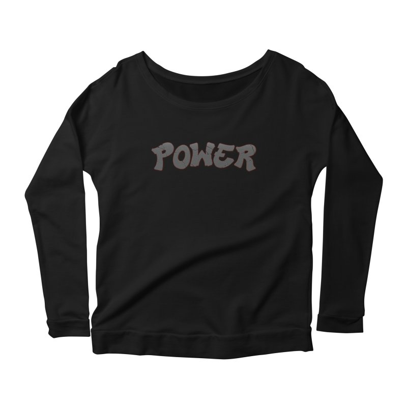 POWER cracks Women's Scoop Neck Longsleeve T-Shirt by Power Artist Shop