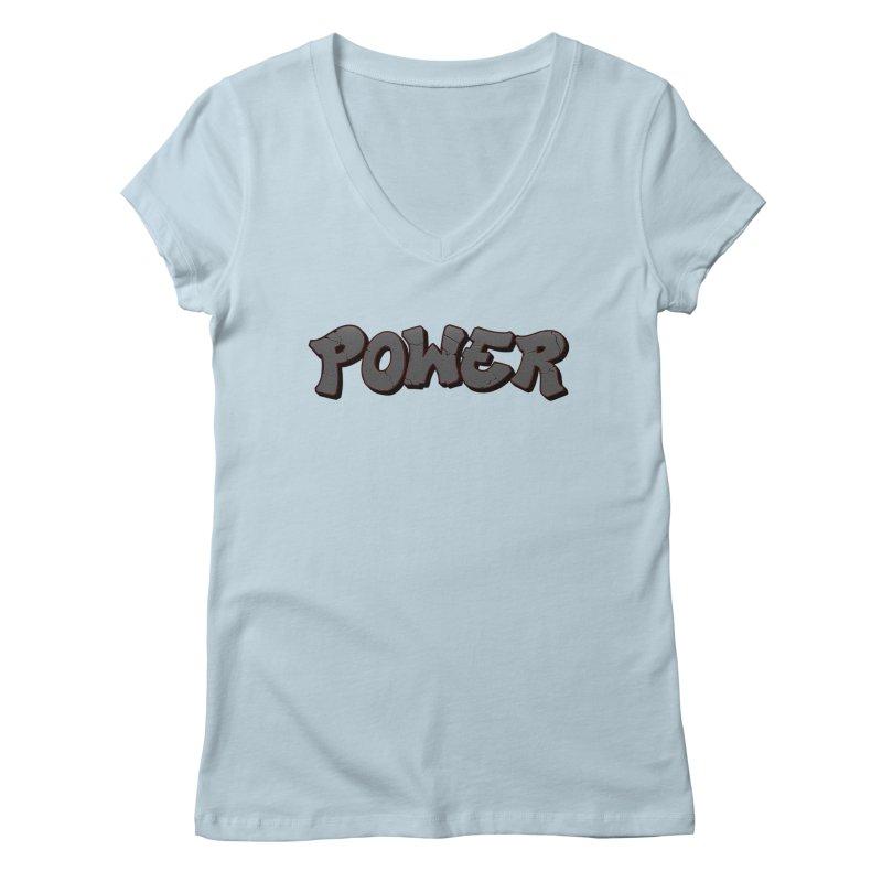 POWER cracks Women's Regular V-Neck by Power Artist Shop