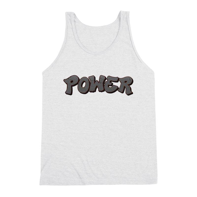 POWER cracks Men's Triblend Tank by Power Artist Shop