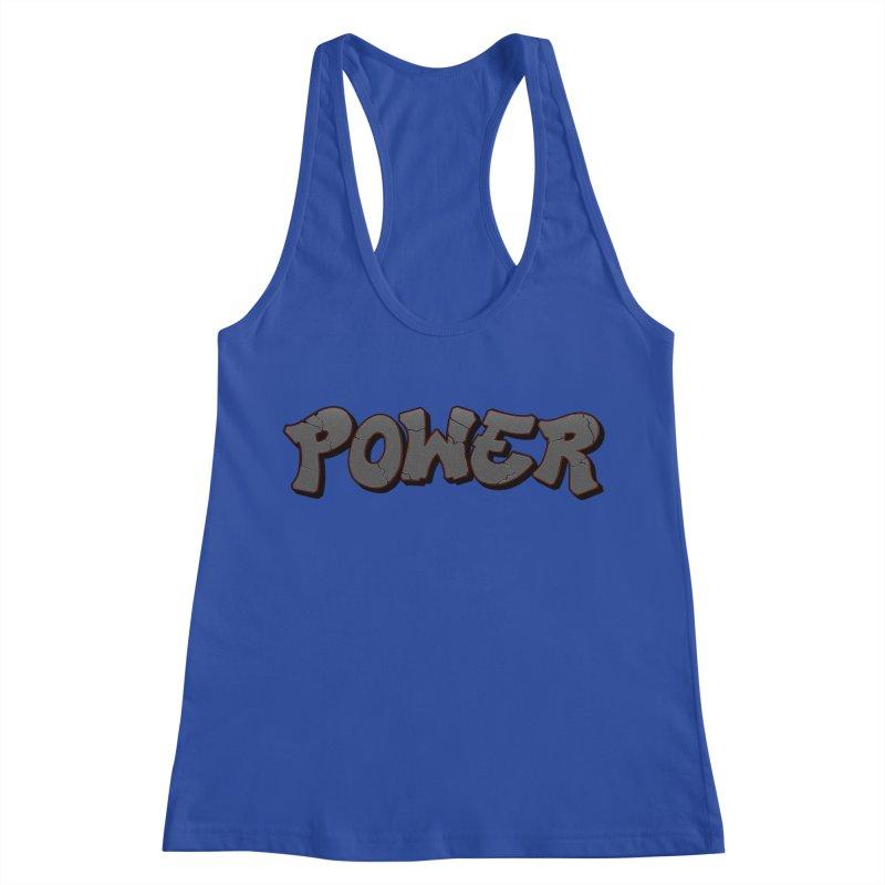 POWER cracks Women's Racerback Tank by Power Artist Shop
