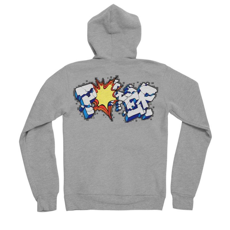 POWER explode Men's Sponge Fleece Zip-Up Hoody by Power Artist Shop