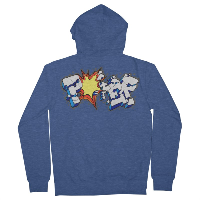 POWER explode Men's French Terry Zip-Up Hoody by Power Artist Shop