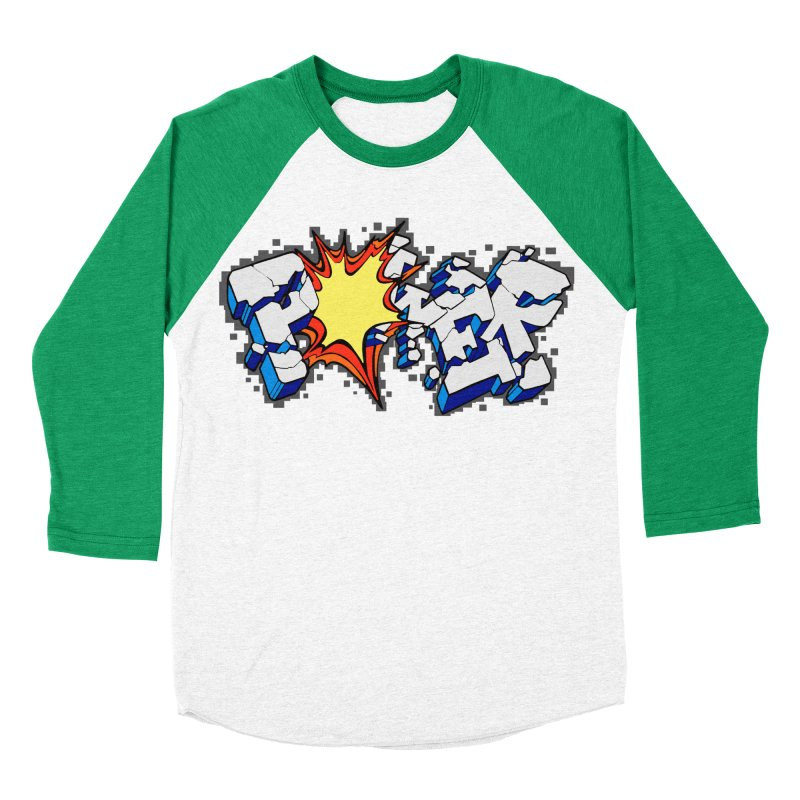 POWER explode Women's Baseball Triblend Longsleeve T-Shirt by Power Artist Shop