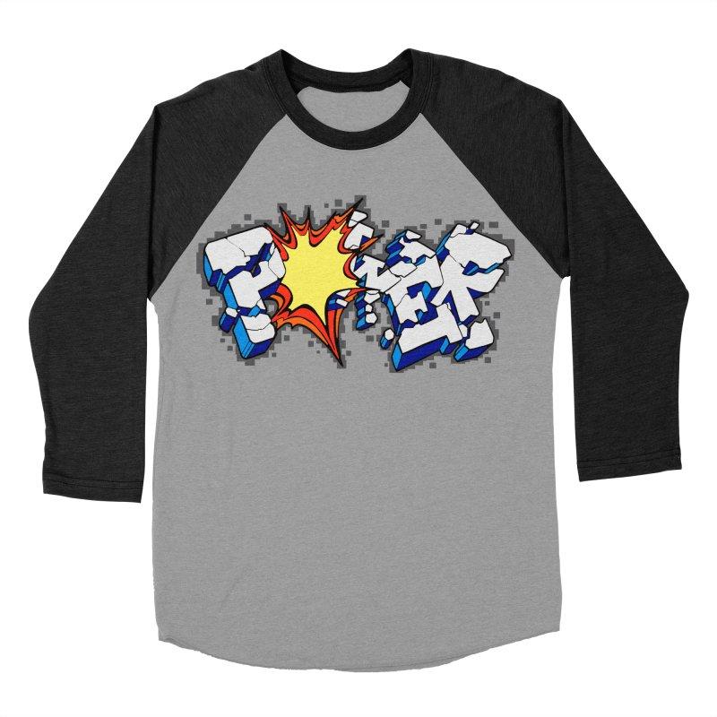 POWER explode Men's Baseball Triblend Longsleeve T-Shirt by Power Artist Shop