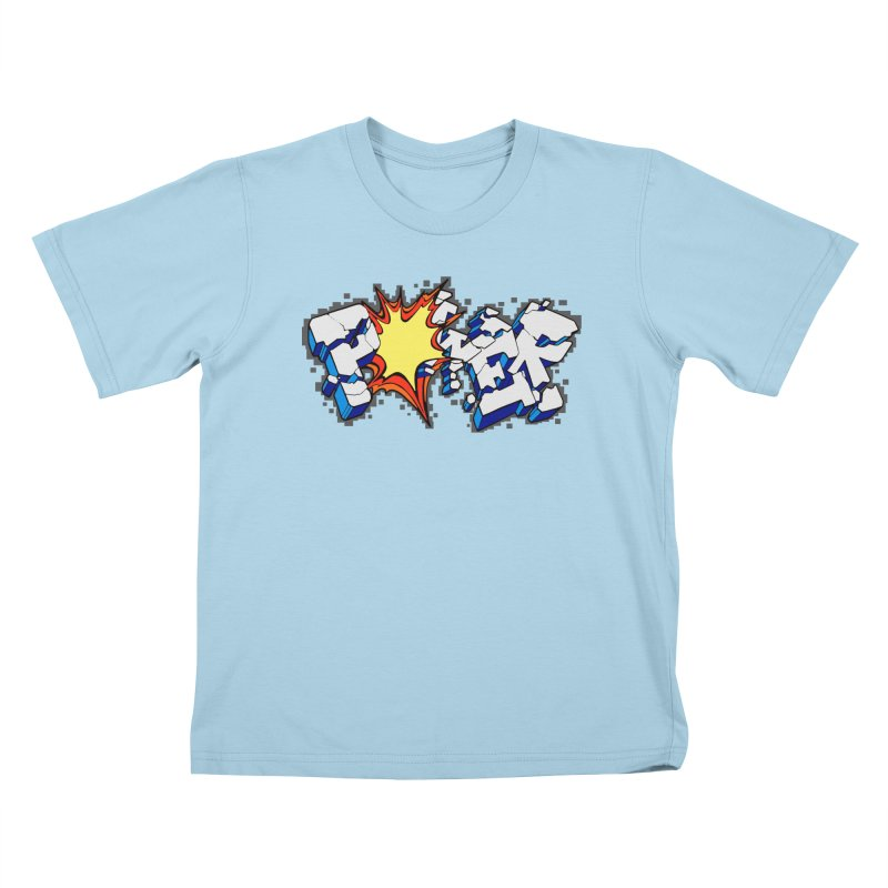POWER explode Kids T-Shirt by Power Artist Shop