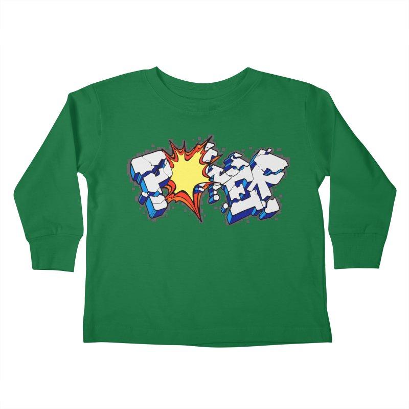 POWER explode Kids Toddler Longsleeve T-Shirt by Power Artist Shop