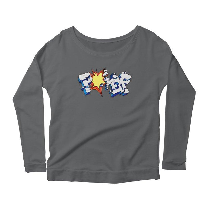 POWER explode Women's Scoop Neck Longsleeve T-Shirt by Power Artist Shop