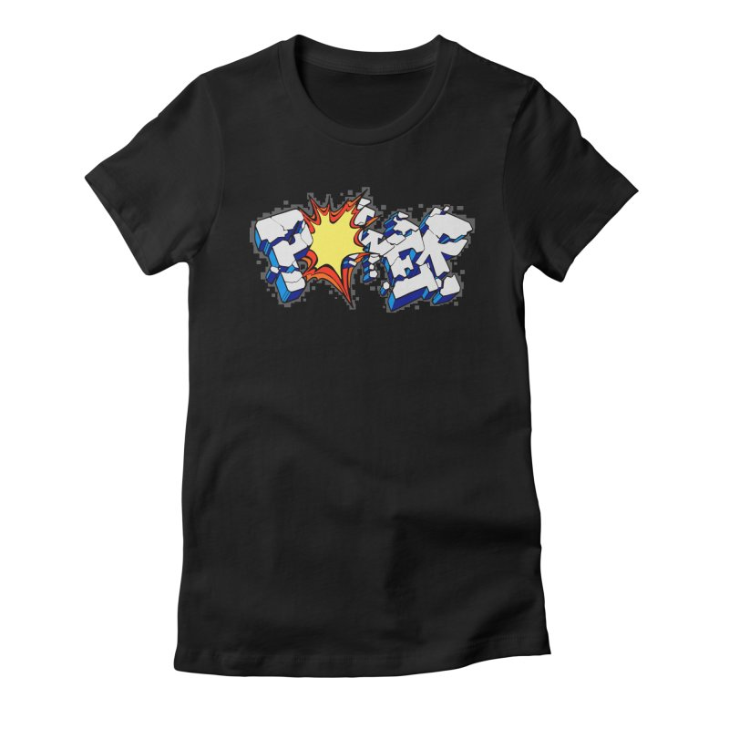 POWER explode Women's Fitted T-Shirt by Power Artist Shop