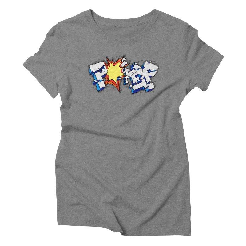 POWER explode Women's Triblend T-Shirt by Power Artist Shop