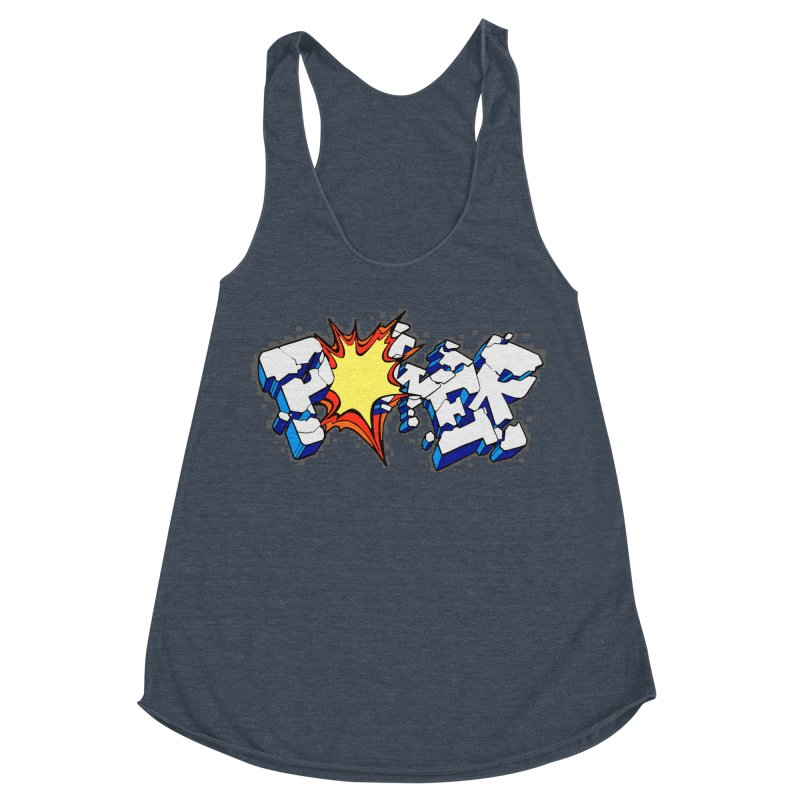 POWER explode Women's Racerback Triblend Tank by Power Artist Shop