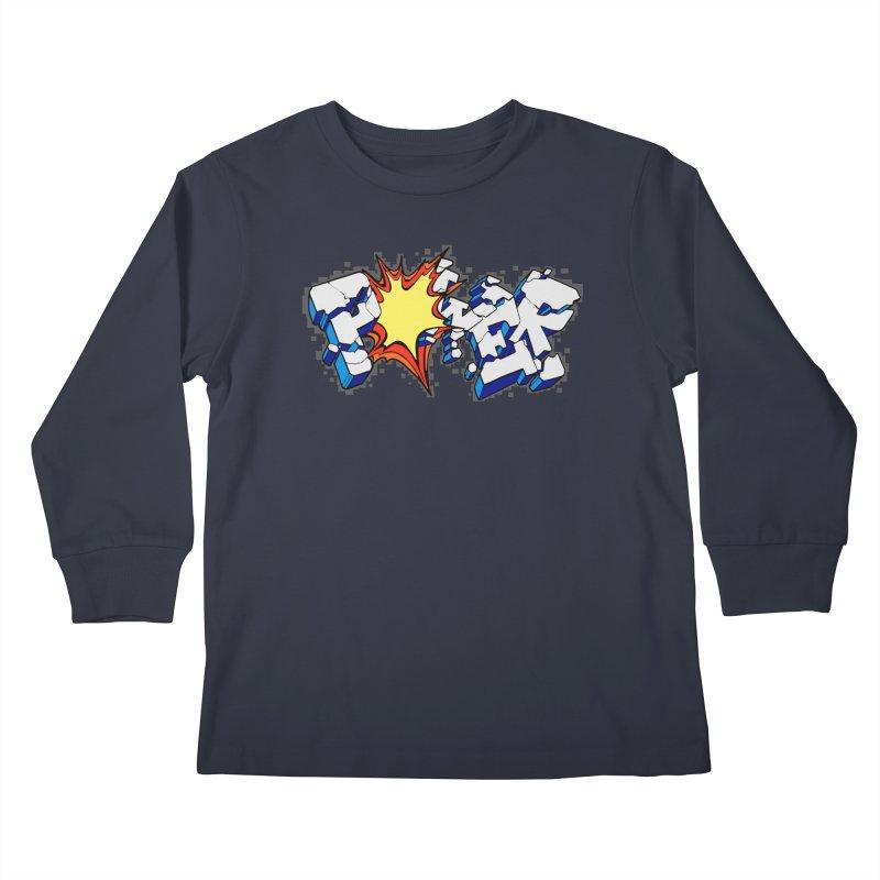 POWER explode Kids Longsleeve T-Shirt by Power Artist Shop