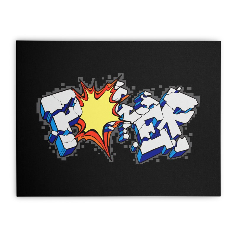 POWER explode Home Stretched Canvas by Power Artist Shop