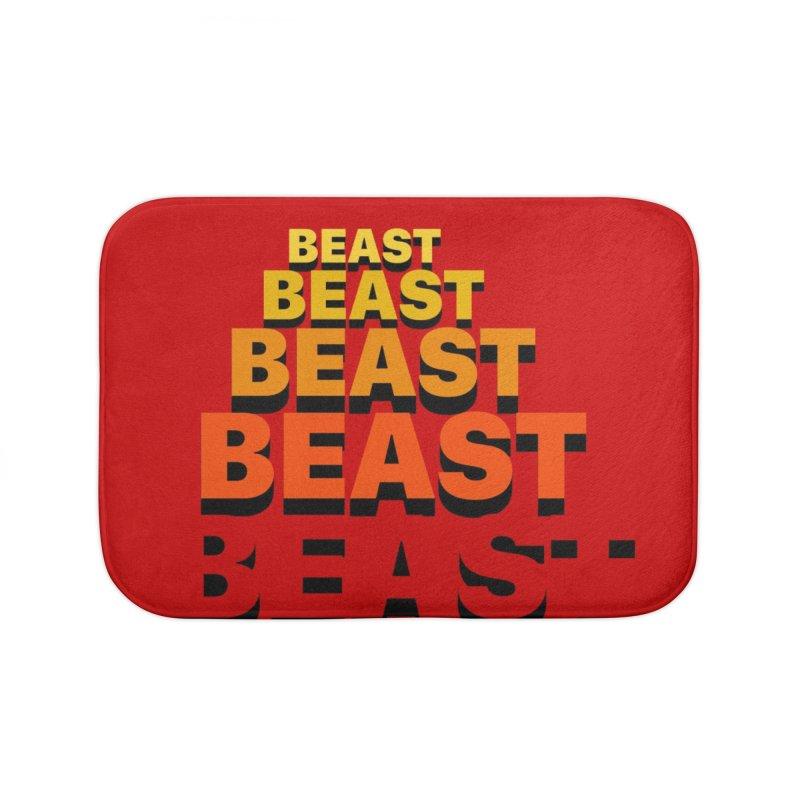 Beast Beast Beast Home Bath Mat by Power Artist Shop