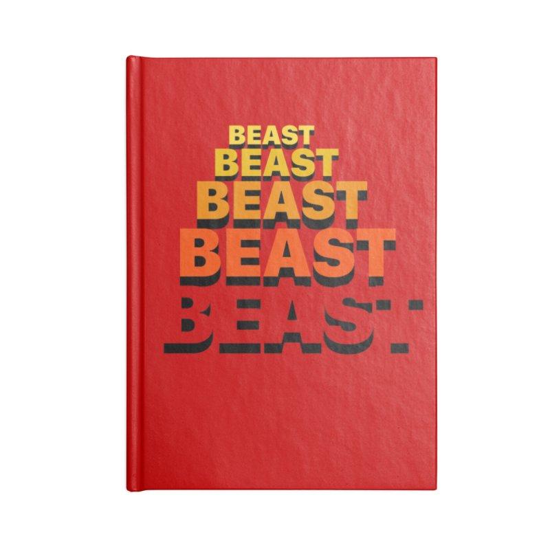 Beast Beast Beast Accessories Lined Journal Notebook by Power Artist Shop