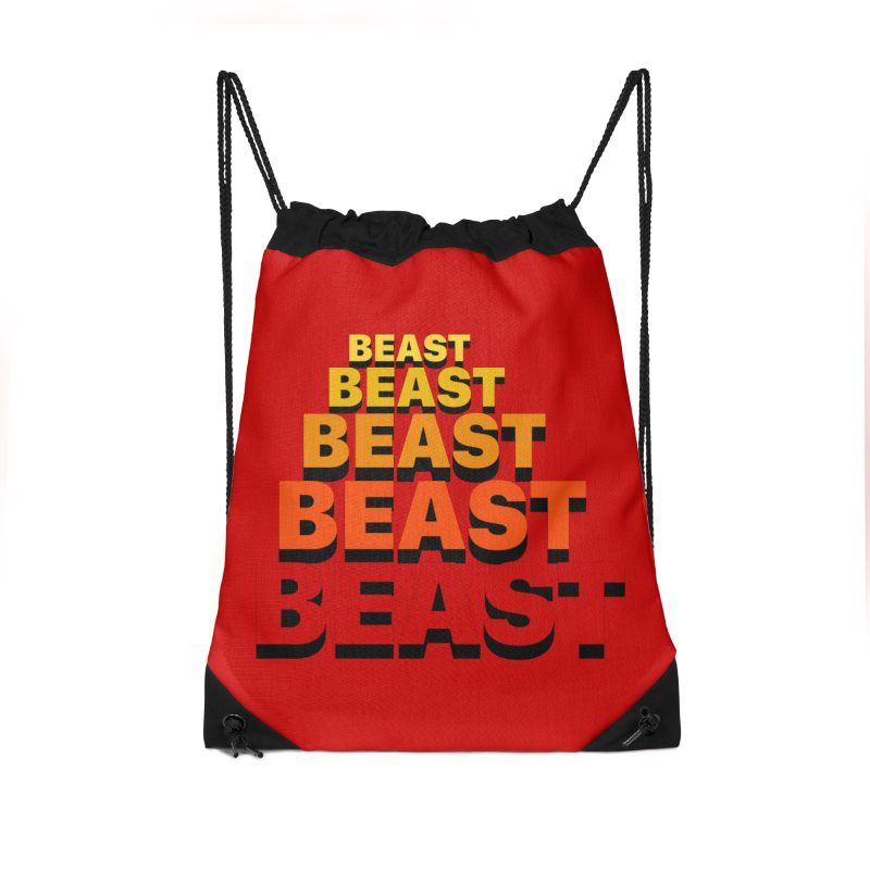 Beast Beast Beast Accessories Drawstring Bag Bag by Power Artist Shop