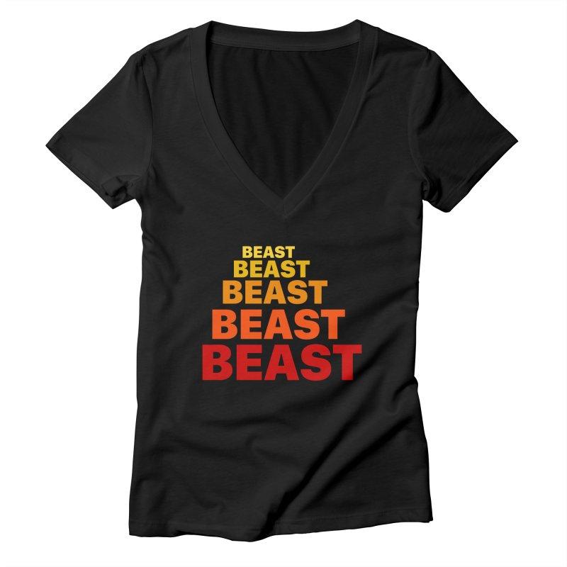 Beast Beast Beast Women's Deep V-Neck V-Neck by Power Artist Shop