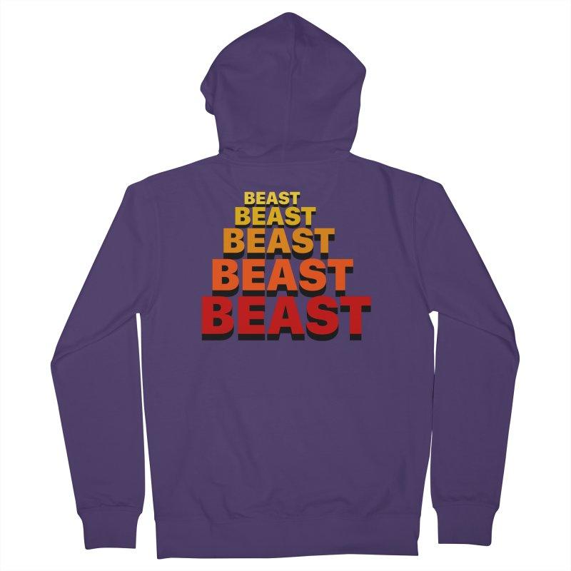 Beast Beast Beast Women's French Terry Zip-Up Hoody by Power Artist Shop