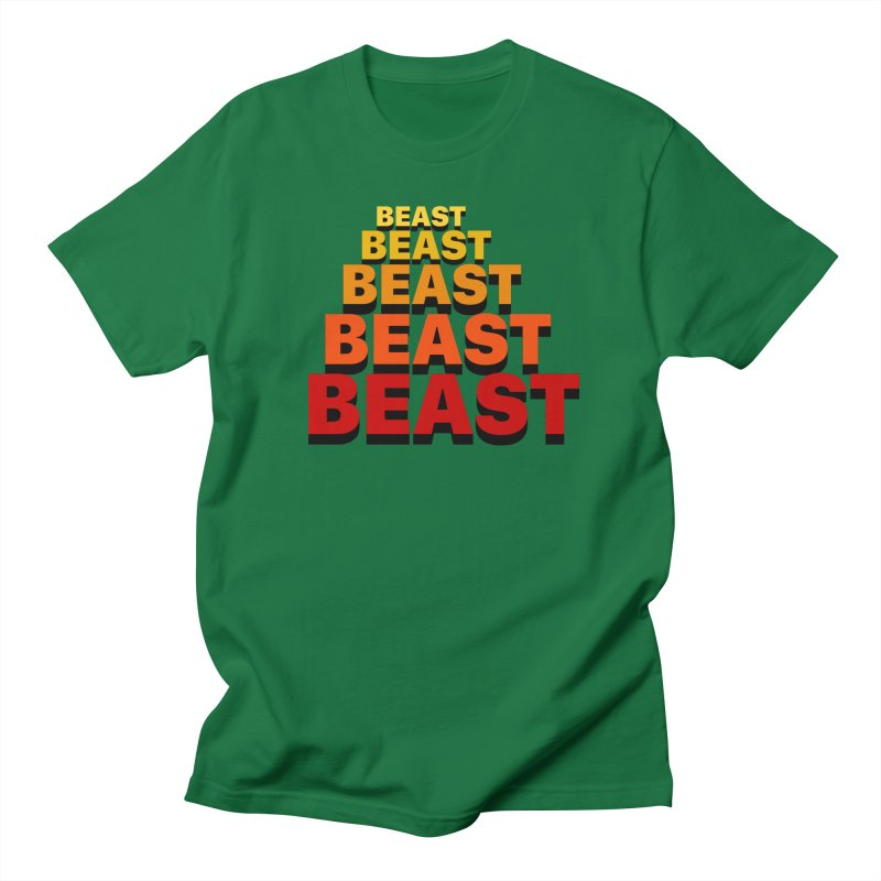 Beast Beast Beast Men's Regular T-Shirt by Power Artist Shop