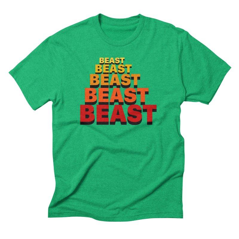 Beast Beast Beast Men's Triblend T-Shirt by Power Artist Shop