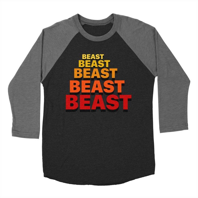Beast Beast Beast Men's Baseball Triblend Longsleeve T-Shirt by Power Artist Shop
