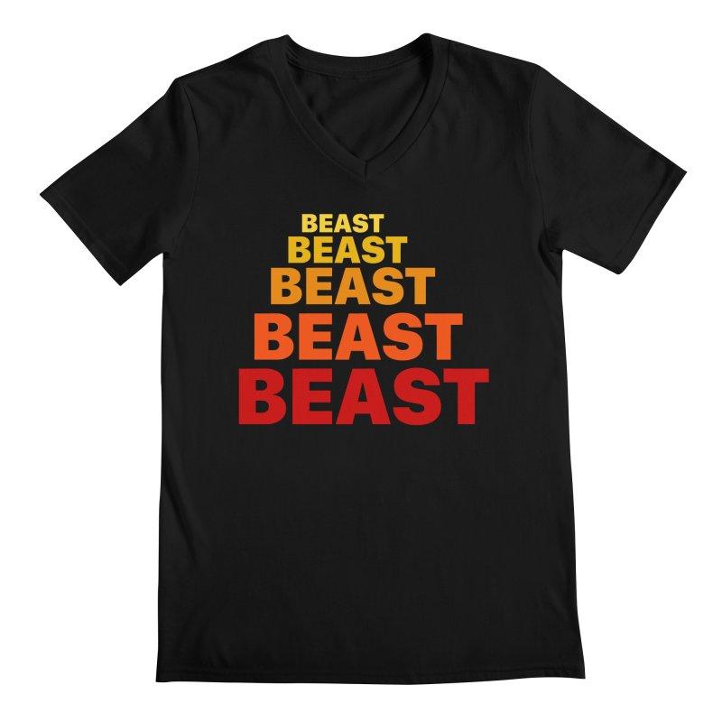 Beast Beast Beast Men's Regular V-Neck by Power Artist Shop