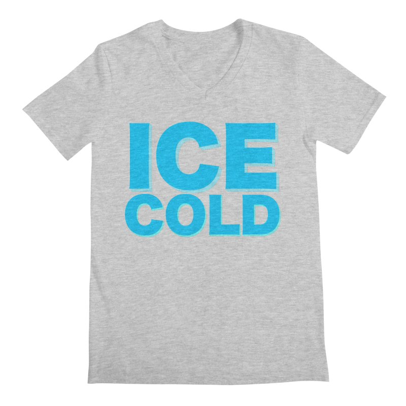 ICE Cold Men's Regular V-Neck by Power Artist Shop
