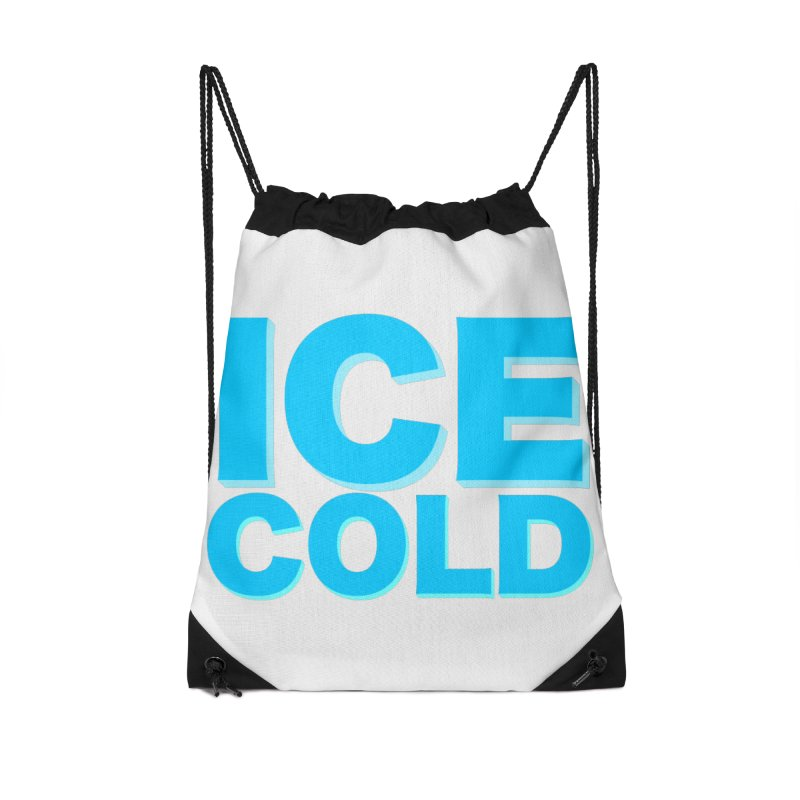 ICE Cold Accessories Drawstring Bag Bag by Power Artist Shop