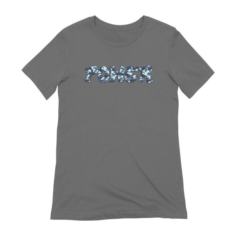 POWER - Camo Blue Women's T-Shirt by Power Artist Shop