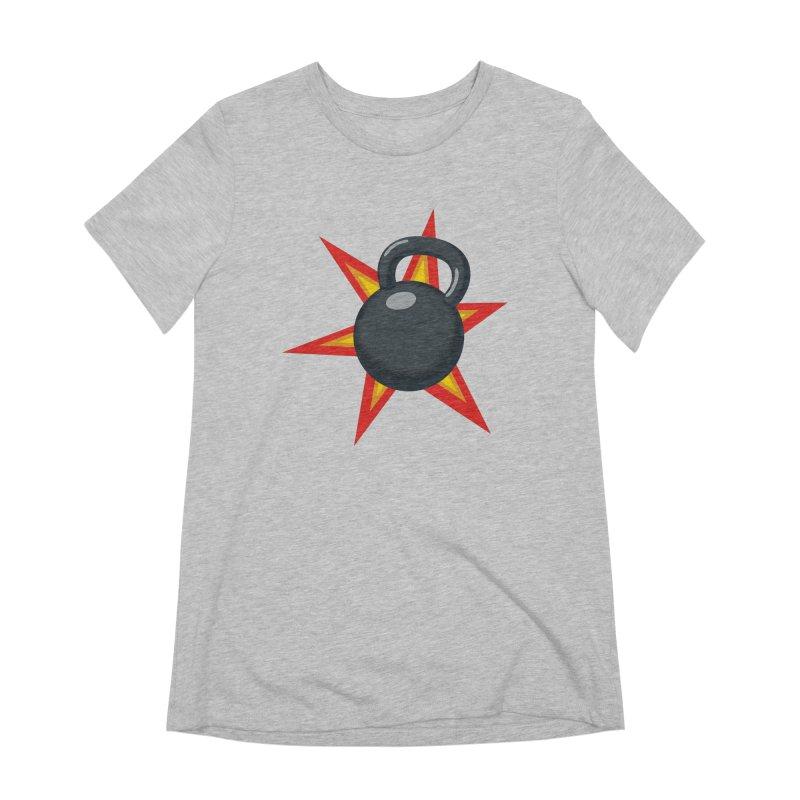 Kettlebell Women's Extra Soft T-Shirt by Power Artist Shop