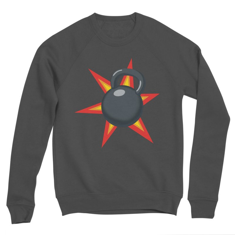 Kettlebell Men's Sponge Fleece Sweatshirt by Power Artist Shop