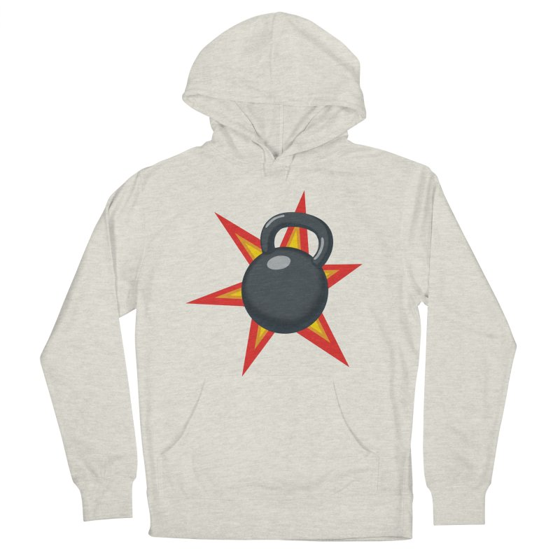 Kettlebell Women's French Terry Pullover Hoody by Power Artist Shop
