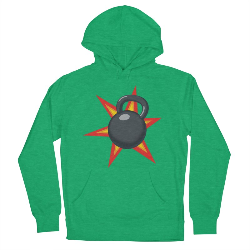 Kettlebell Men's French Terry Pullover Hoody by Power Artist Shop