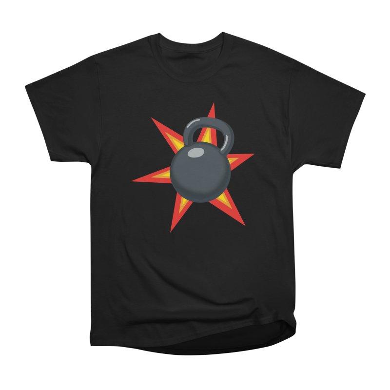 Kettlebell Men's Heavyweight T-Shirt by Power Artist Shop