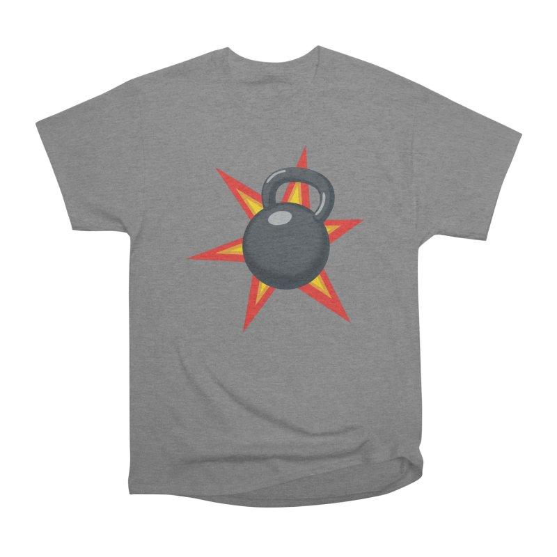 Kettlebell Women's Heavyweight Unisex T-Shirt by Power Artist Shop