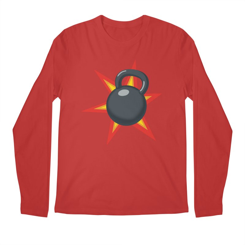 Kettlebell Men's Regular Longsleeve T-Shirt by Power Artist Shop