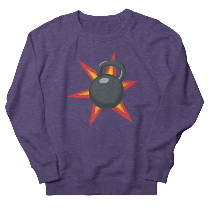 Kettlebell Women's French Terry Sweatshirt by Power Artist Shop