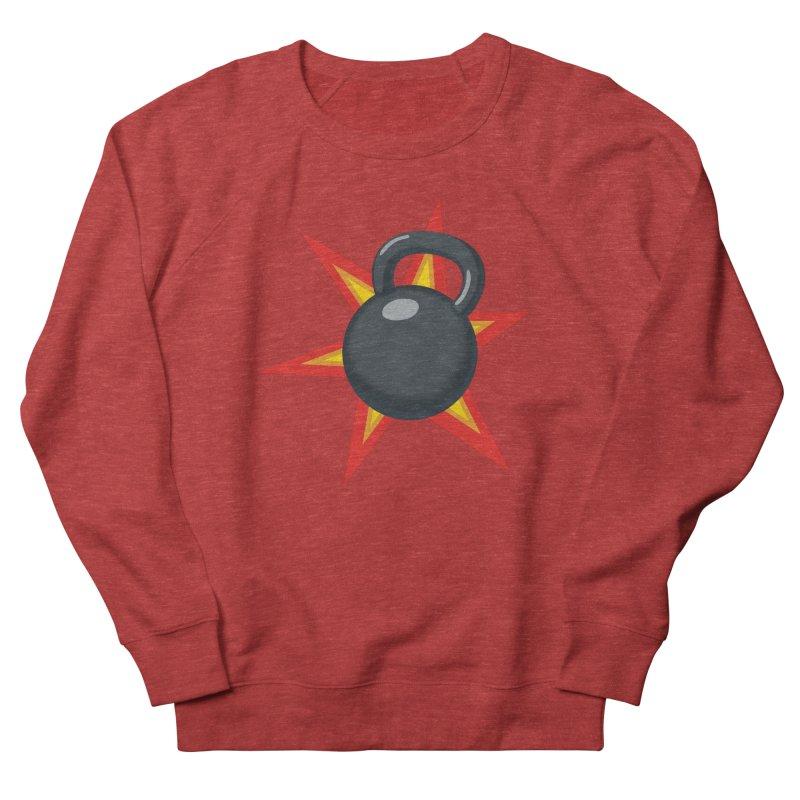 Kettlebell Men's French Terry Sweatshirt by Power Artist Shop