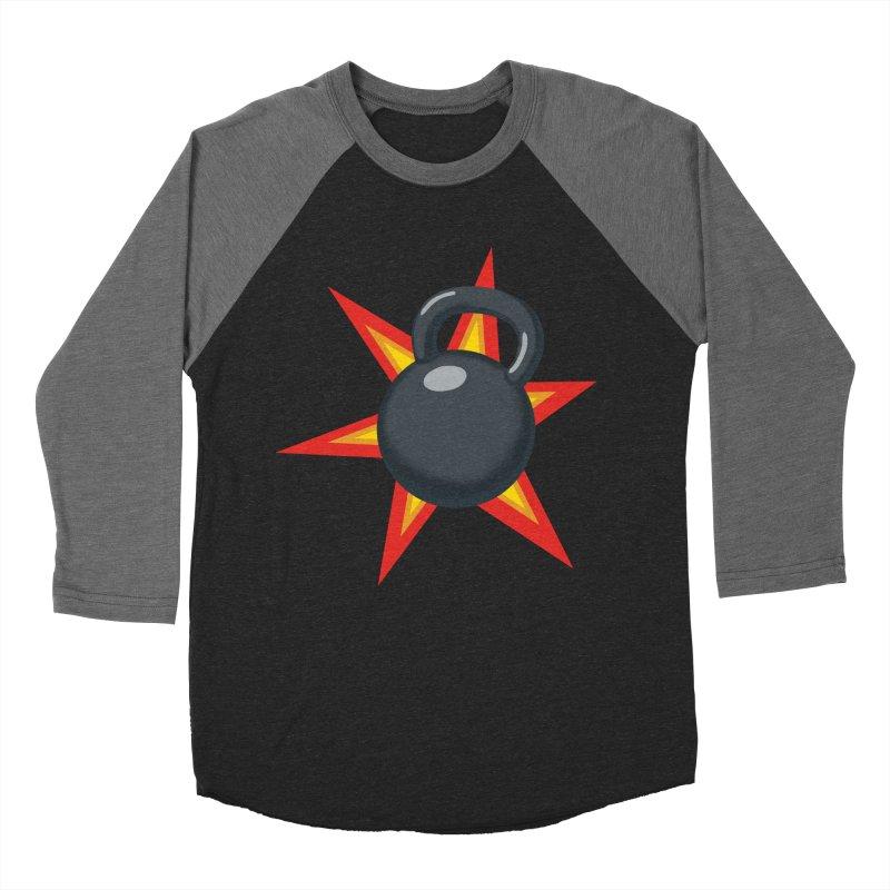 Kettlebell Women's Baseball Triblend Longsleeve T-Shirt by Power Artist Shop