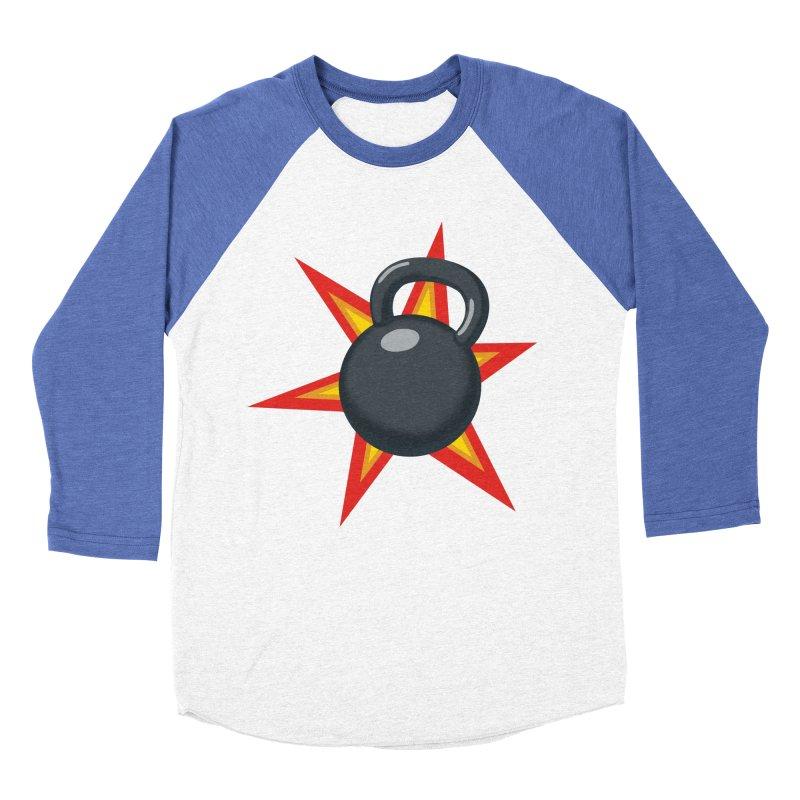 Kettlebell Men's Baseball Triblend Longsleeve T-Shirt by Power Artist Shop