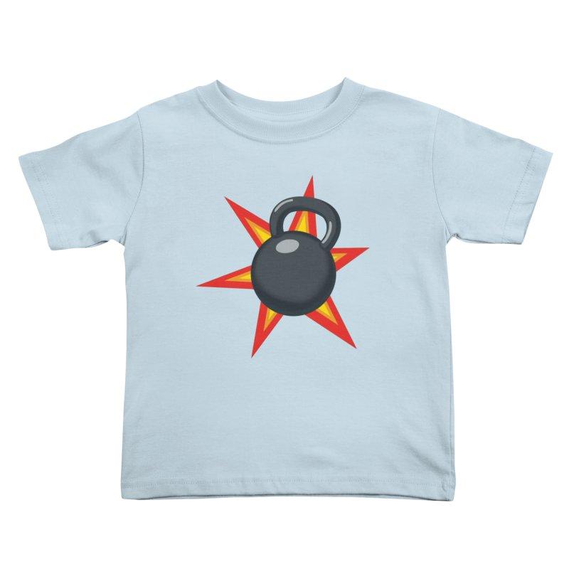 Kettlebell Kids Toddler T-Shirt by Power Artist Shop